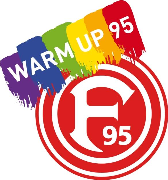 WarmUp95 Logo für eine bunte Kurve  - für eine vielfältige Fortuna.