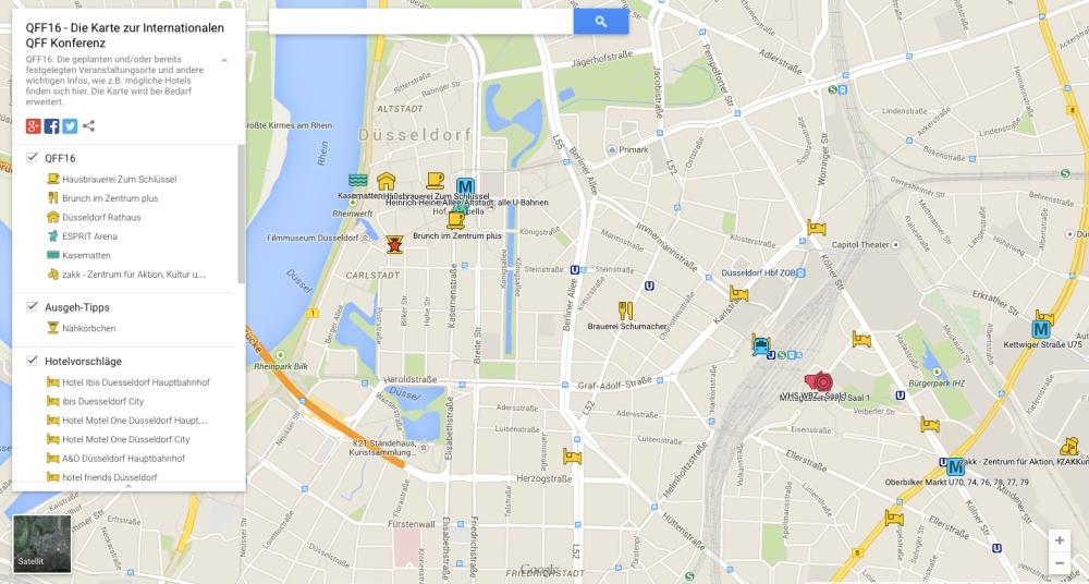 QFF16 - Veranstaltungsorte, Hotels und ÖPNV