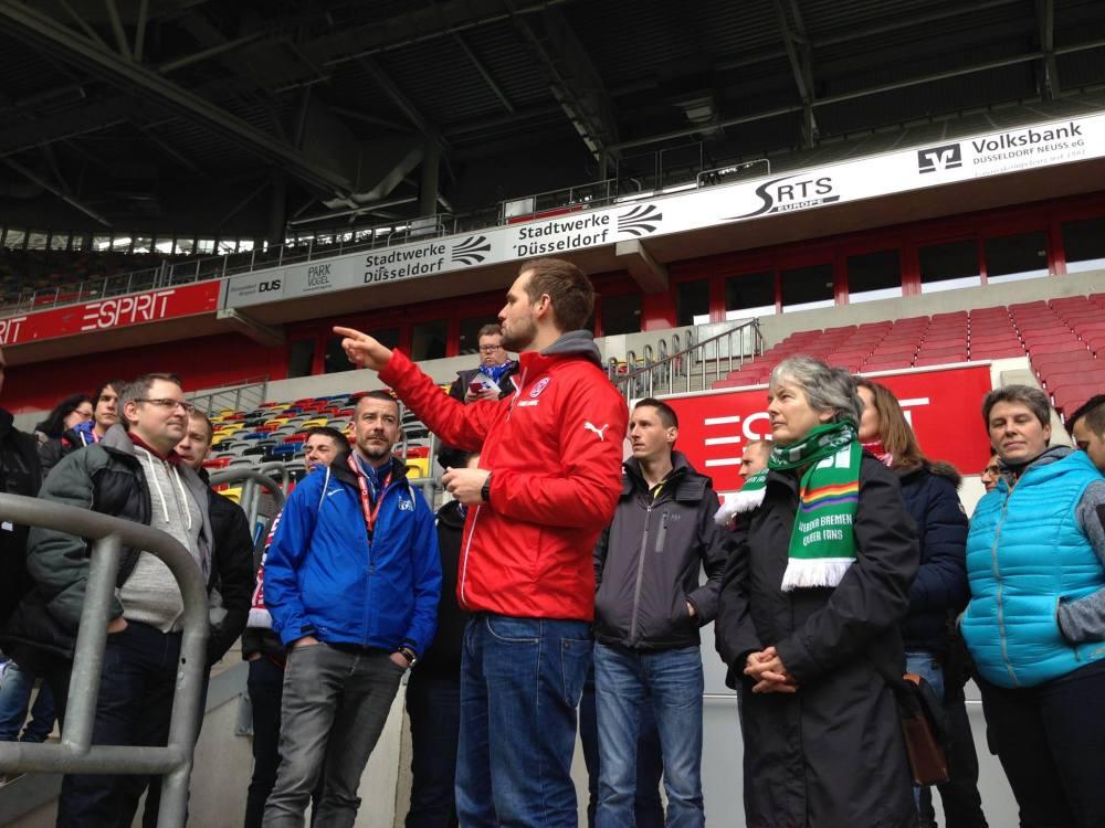 Stadionführung mit Fortuna Fanbetreuer Florian Liesebach
