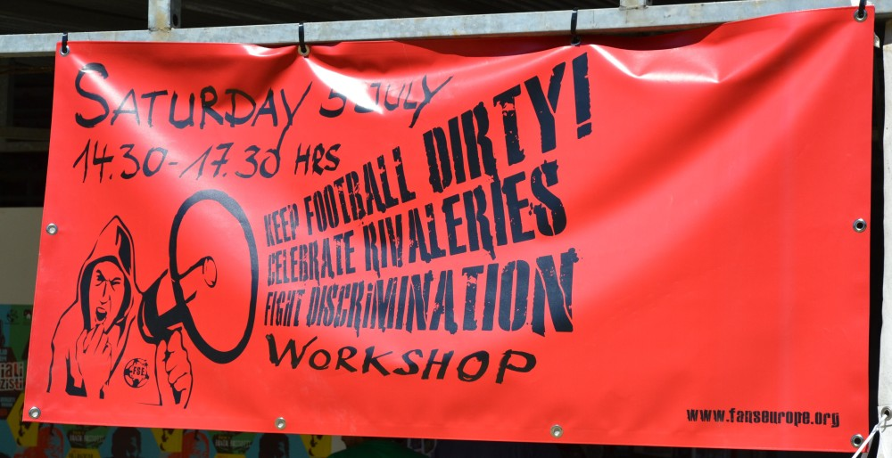 Keep football dirty!  Celebrate rivalries,  fight discrimination.